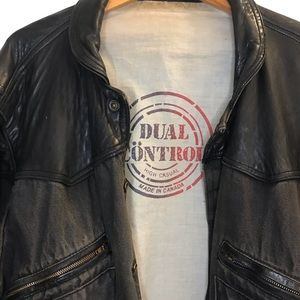 🇨🇦Vintage Distressed DualControl Leather Jacket
